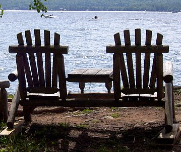 Adirondack Chairs on the Point