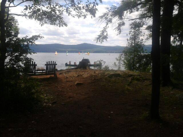sail boats on the lake