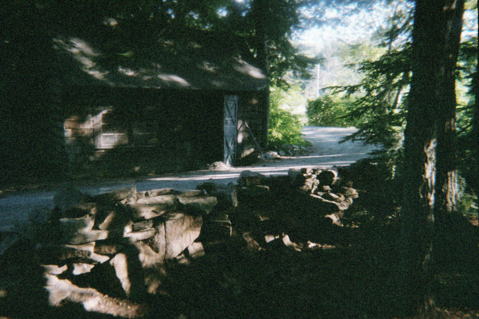 Neddie's Cabin on the East side of the house